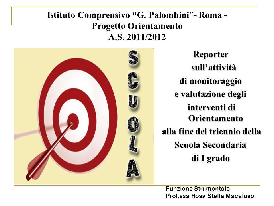Istituto Comprensivo G.Palombini- Roma - Progetto Orientamento A.S.