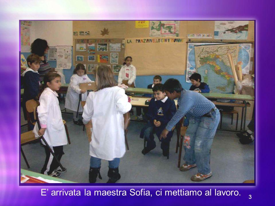 3 E arrivata la maestra Sofia, ci mettiamo al lavoro.