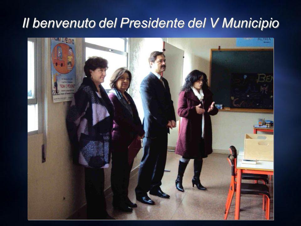 Il benvenuto del Presidente del V Municipio