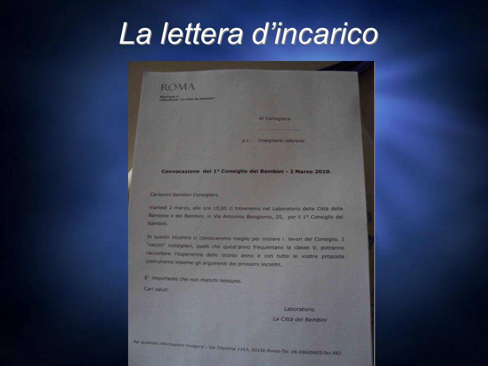 La lettera dincarico