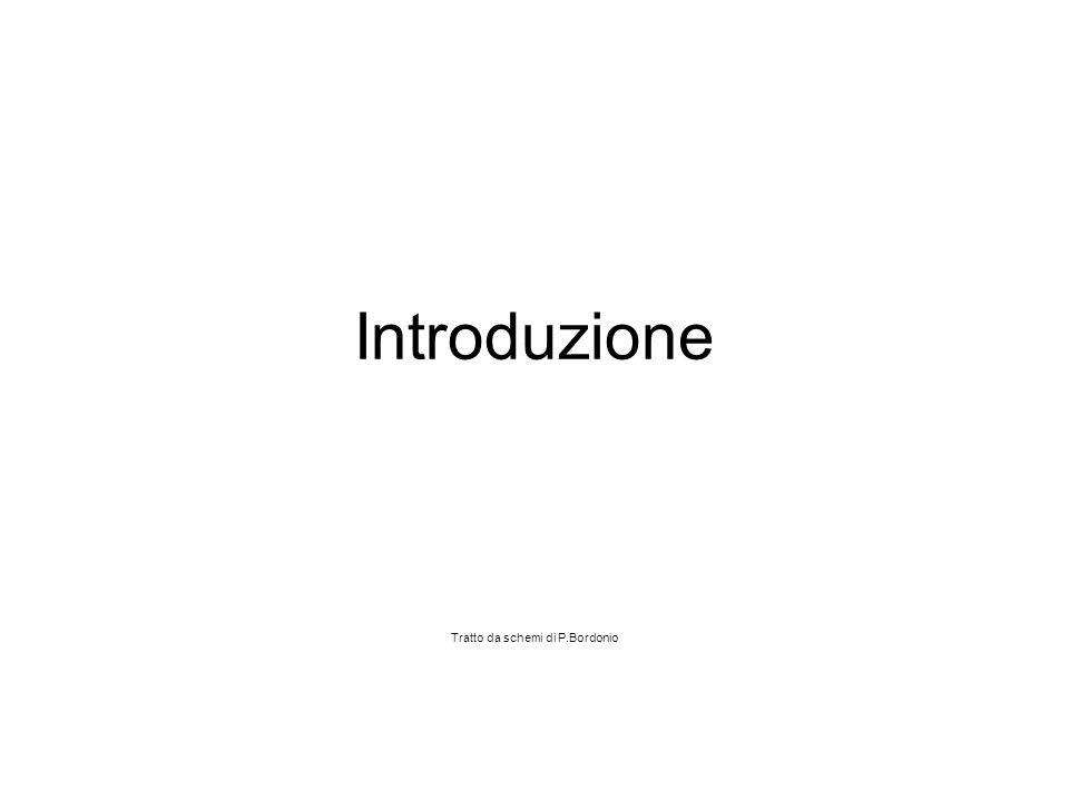 Introduzione Tratto da schemi di P.Bordonio