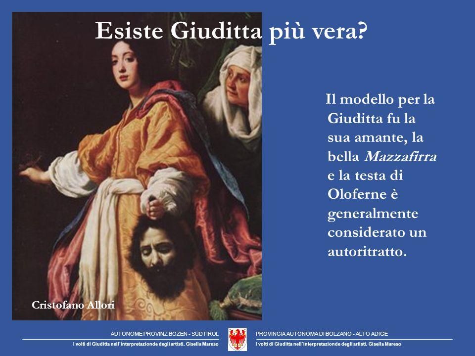 Cristofano Allori Esiste Giuditta più vera.