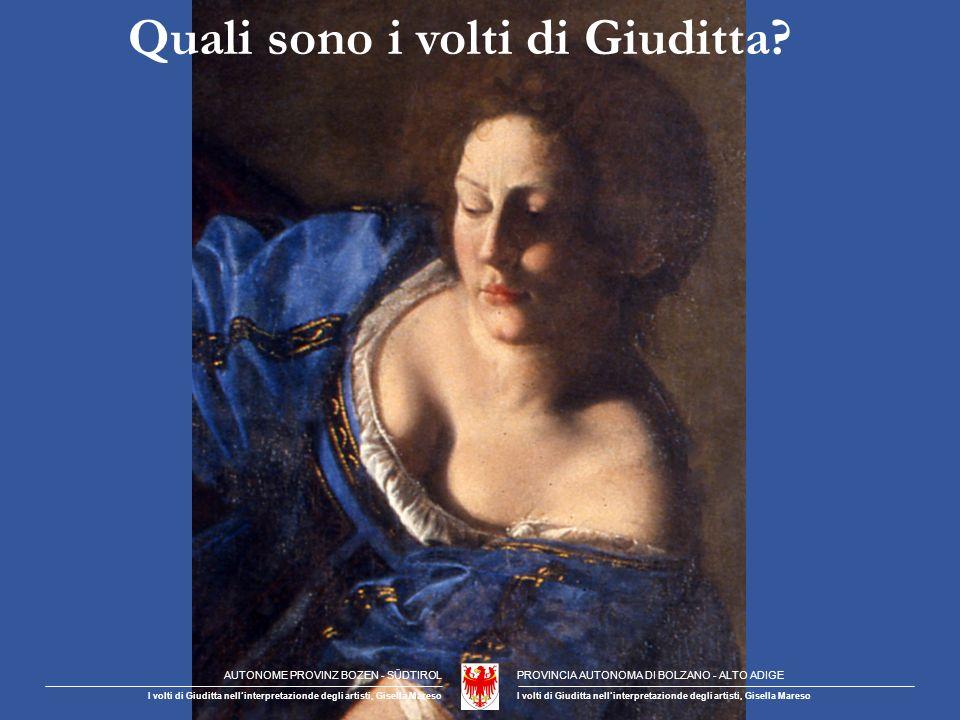 Michelangelo Perché Giuditta non mostra il suo volto.