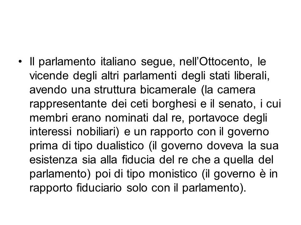 Comè composto il parlamento italiano Il parlamento repubblicano ha ereditato dallesperienza costituzionale precedente la sua struttura bicamerale, prevedendo due camere con identici compiti e poteri: la camera dei deputati e il senato della repubblica.