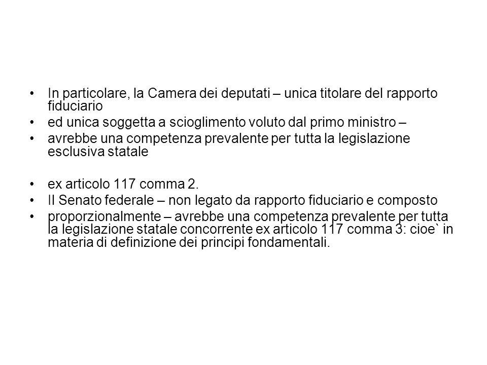 Lavori riforma 2004 (Ferrara) Ritiene, tuttavia, che una riforma coerente debba tenere conto dellassetto complessivo del sistema costituzionale, in particolare dei rapporti tra le Camere e il Governo.