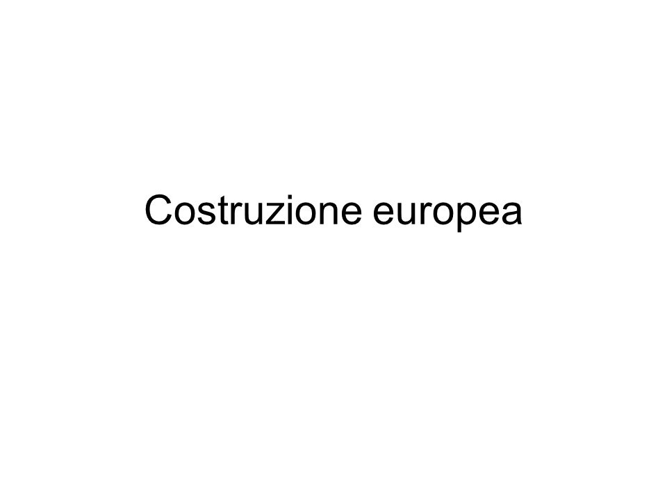 Costruzione europea