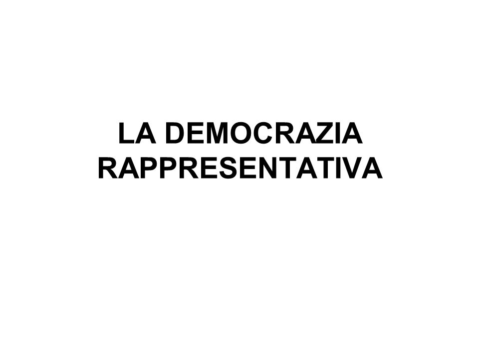 Contrariamente a quel che si crede di solito, democrazia e rappresentanza sono cose diverse.