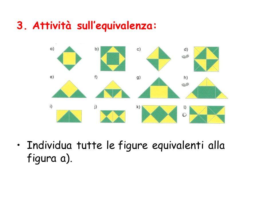 3. Attività sullequivalenza: Individua tutte le figure equivalenti alla figura a).