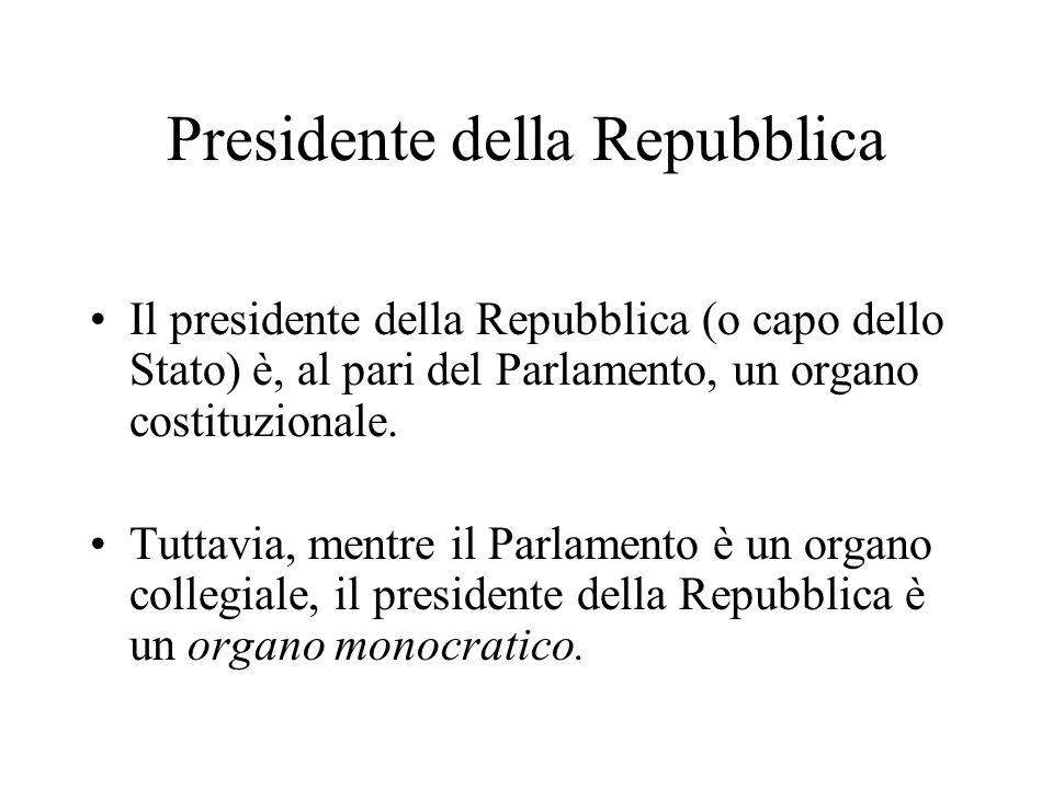 Eletto… In base alla Costituzione (art.