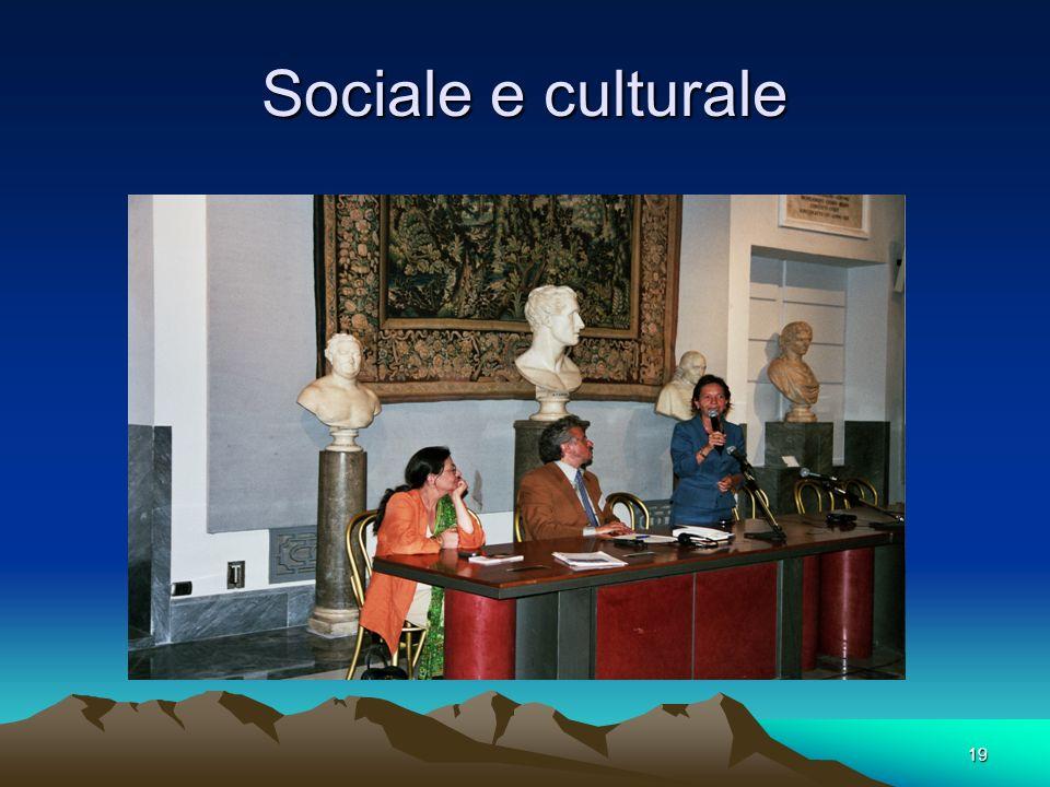19 Sociale e culturale