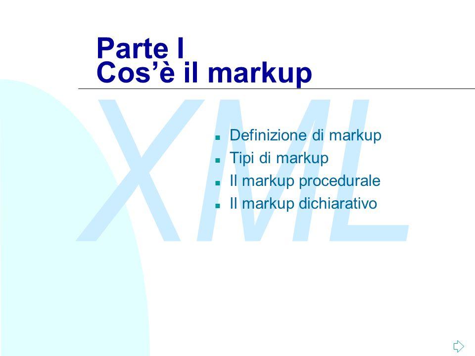 XML Fabio Vitali65 Dichiarazione XML Document Type Declaration Document Instance La dichiarazione XML specifica le caratteristiche opzionali del documento in questione.