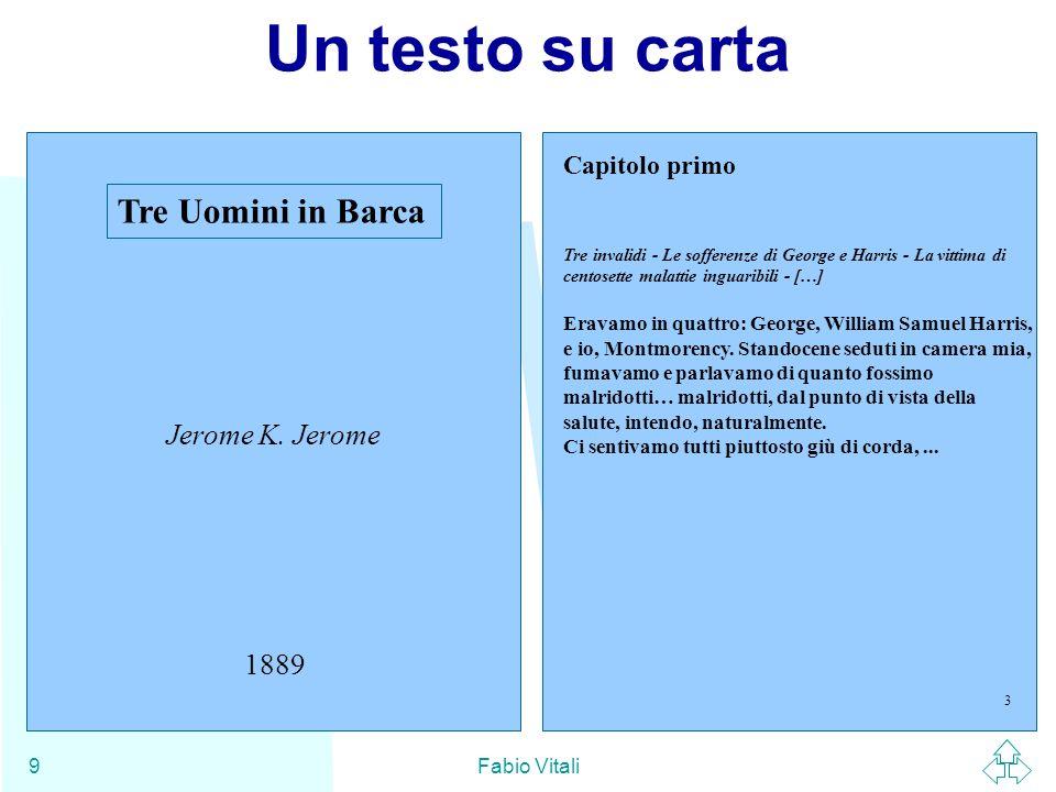 XML Fabio Vitali110 Il white space nel contenuto (3) Loperazione di rimuovere il white space presentazionale lasciando intatto il contenuto vero e proprio è detto normalizzazione del documento.