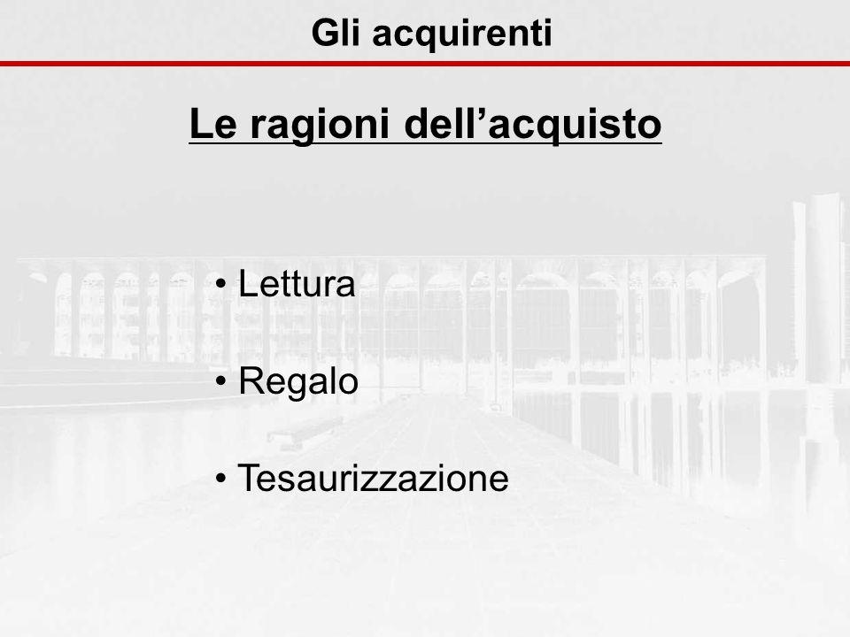 Lettura Regalo Tesaurizzazione Gli acquirenti Le ragioni dellacquisto