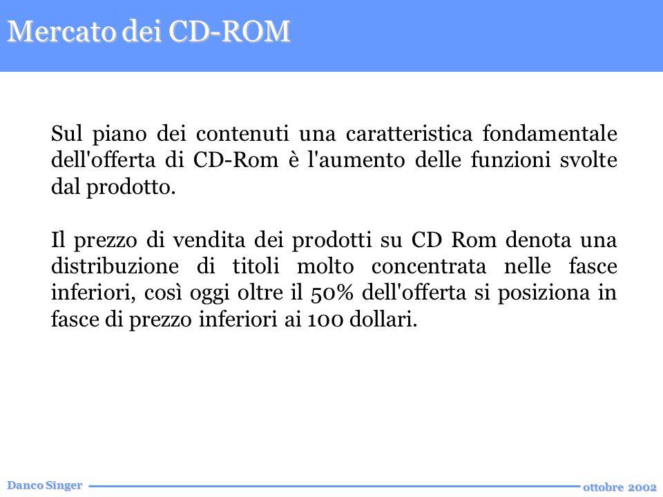 Danco Singer ottobre 2002 Sul piano dei contenuti una caratteristica fondamentale dell offerta di CD-Rom è l aumento delle funzioni svolte dal prodotto.