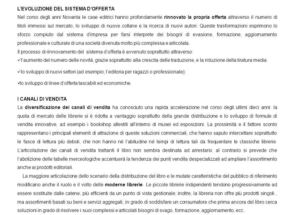 LA FOLIAZIONE La riduzione della foliazione è uno dei fenomeni che meglio contraddistingue levoluzione delle proposte delleditoria italiana nel corso degli anni Novanta.