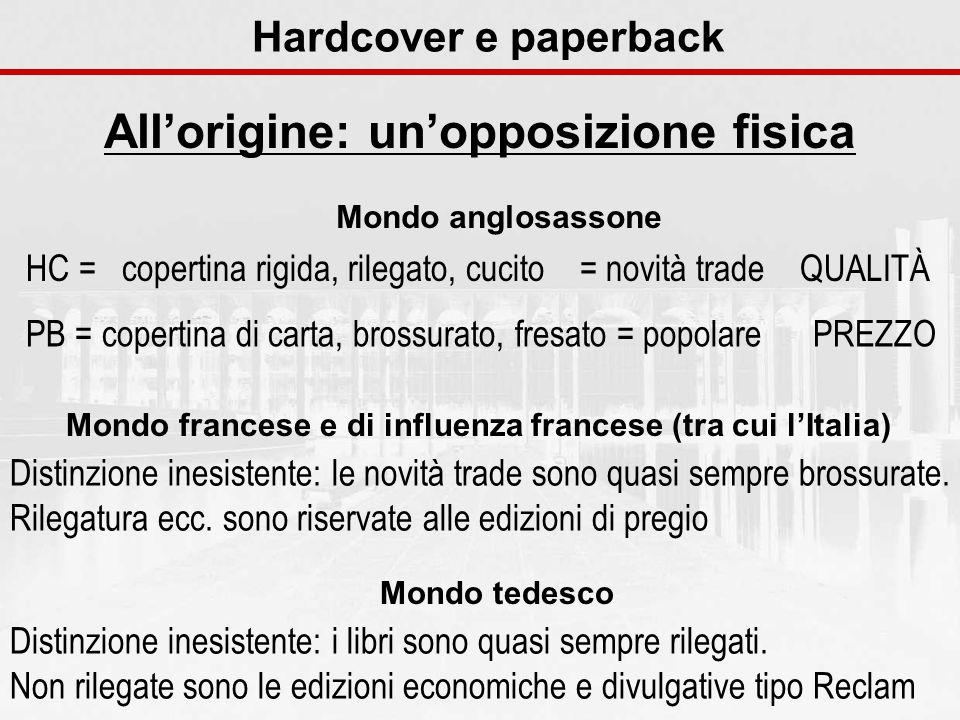 Hardcover e paperback Allorigine: unopposizione fisica HC = copertina rigida, rilegato, cucito = novità trade QUALITÀ PB = copertina di carta, brossur