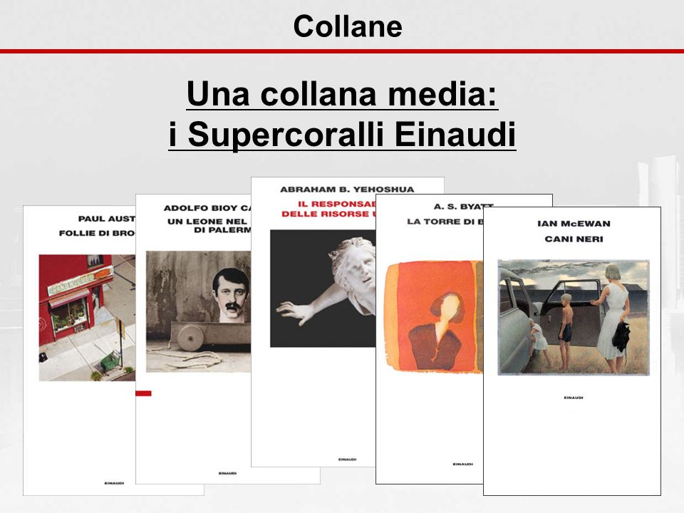 Collane Una collana media: i Supercoralli Einaudi
