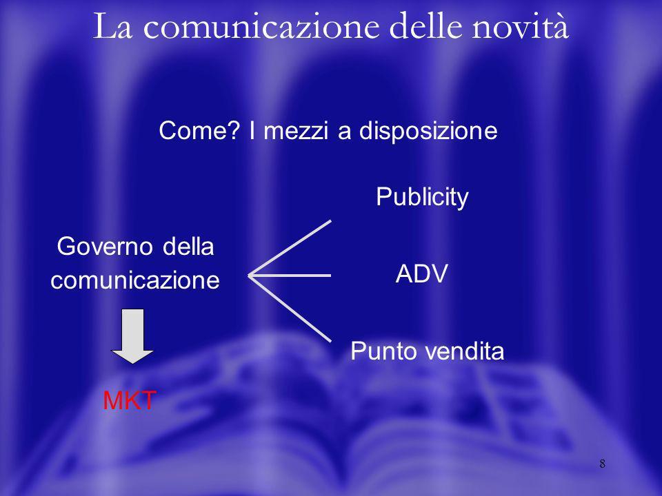 18 La comunicazione delle novità A chi.