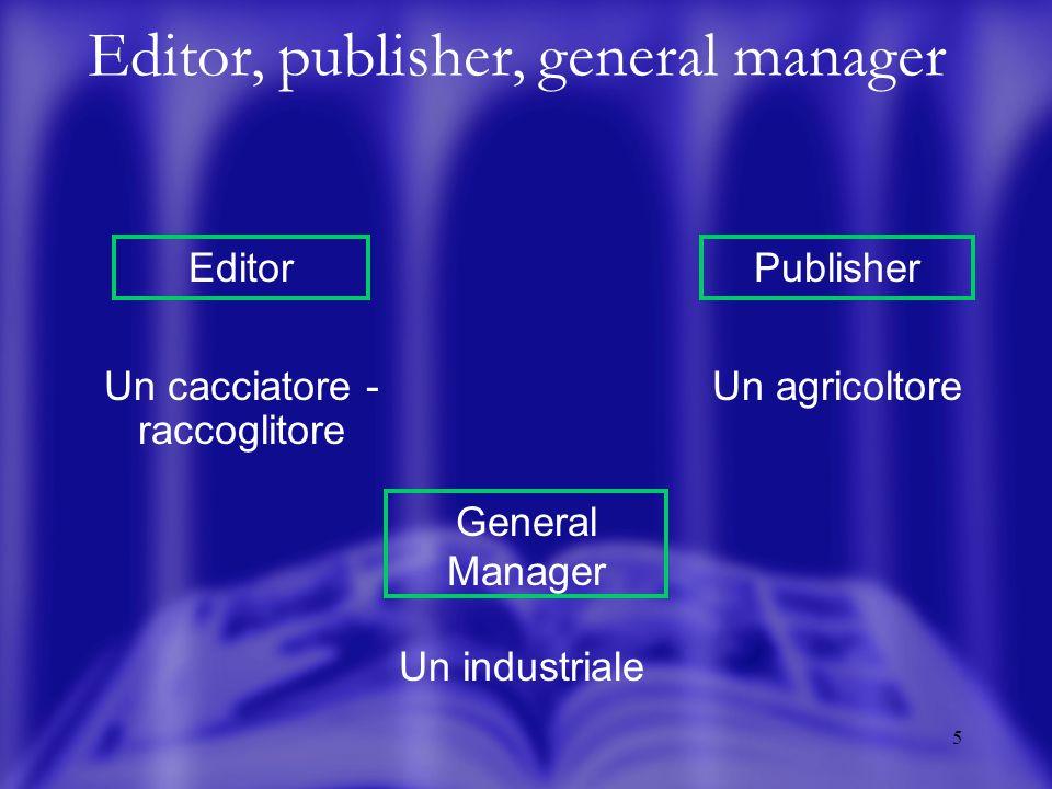 6 Il processo di acquisizione Mercato Terminali sul mercato Editor Publisher Comitato editoriale Funzione tecnica specializzata Offerta di acquisto