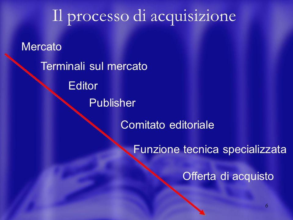 7 Il mercato Formalizzato Informale Si presenta in un assetto professionalizzato e con regole del gioco rigide.