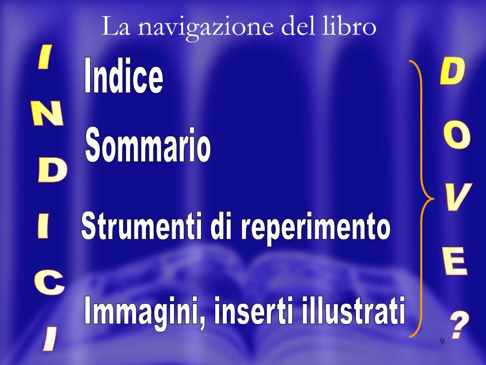9 La navigazione del libro