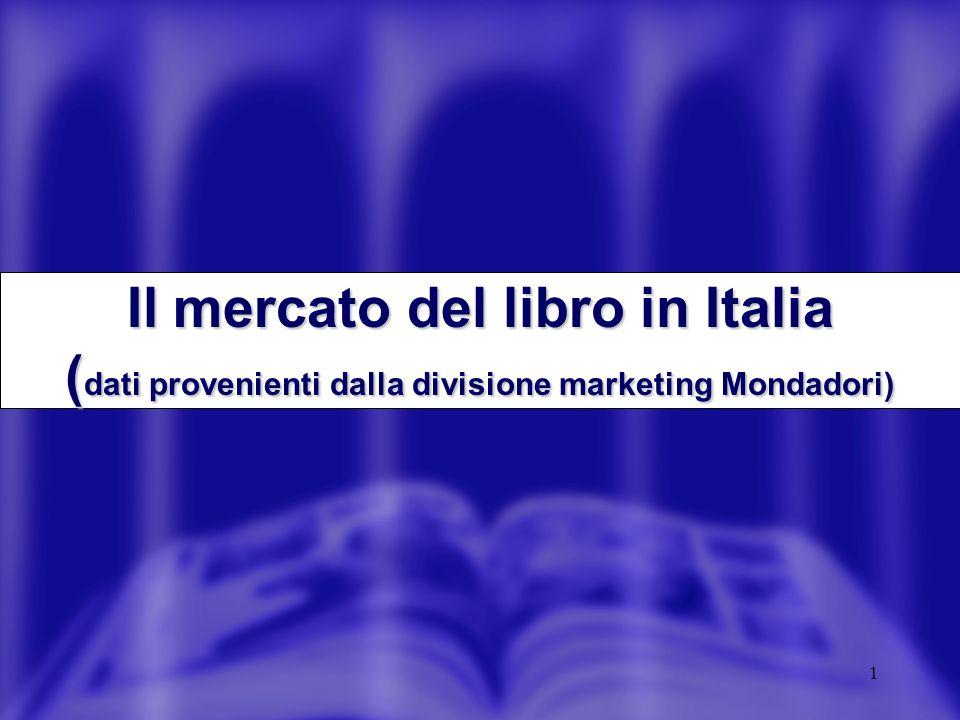 1 Il mercato del libro in Italia ( dati provenienti dalla divisione marketing Mondadori)