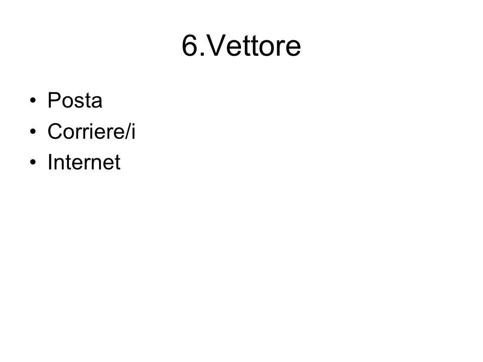 6.Vettore Posta Corriere/i Internet