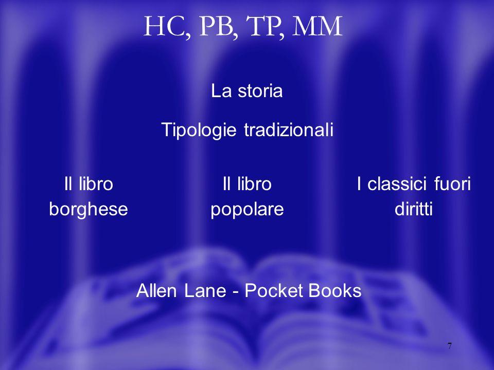 8 HC, PB, TP, MM La situazione attuale Da tipologie distinte di prodotto / mercato A fasi successive di vita del medesimo titolo