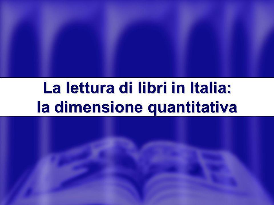 La lettura di libri in Italia: la dimensione quantitativa