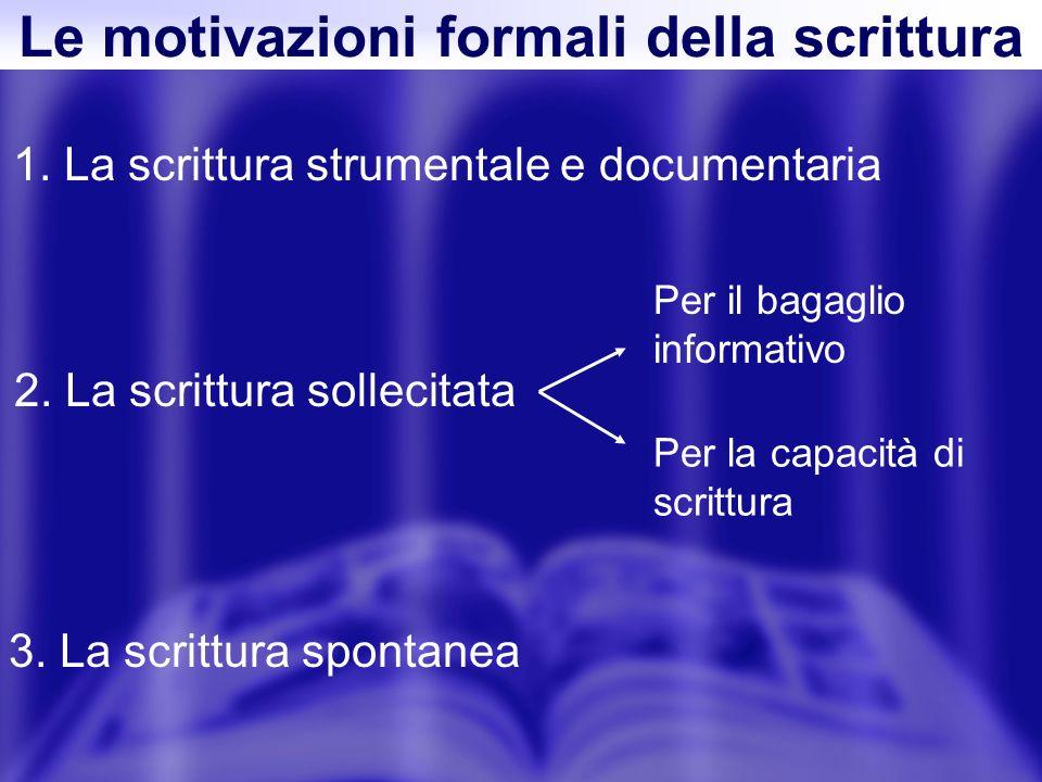 1. La scrittura strumentale e documentaria 2.