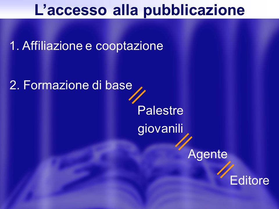 Laccesso alla pubblicazione 1. Affiliazione e cooptazione 2.