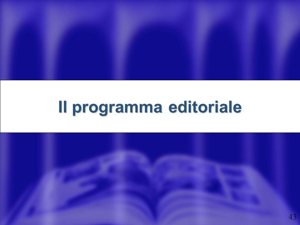 43 Il programma editoriale