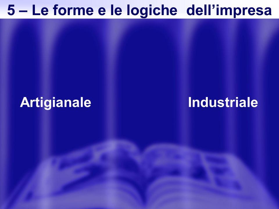 ArtigianaleIndustriale 5 – Le forme e le logiche dellimpresa