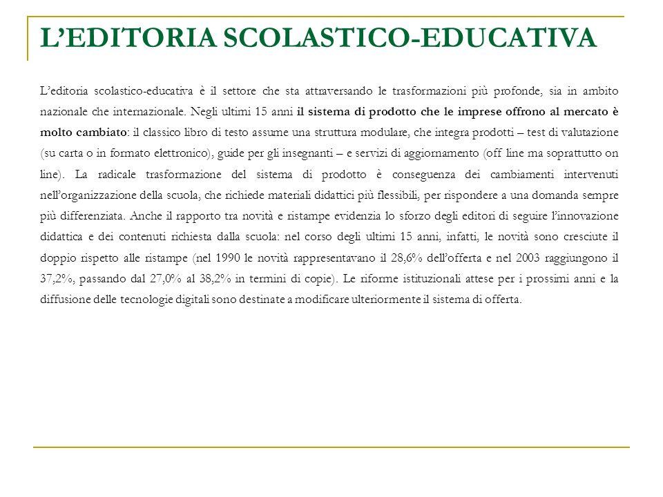 LEDITORIA SCOLASTICO-EDUCATIVA Struttura complessiva del sistema di prodotto
