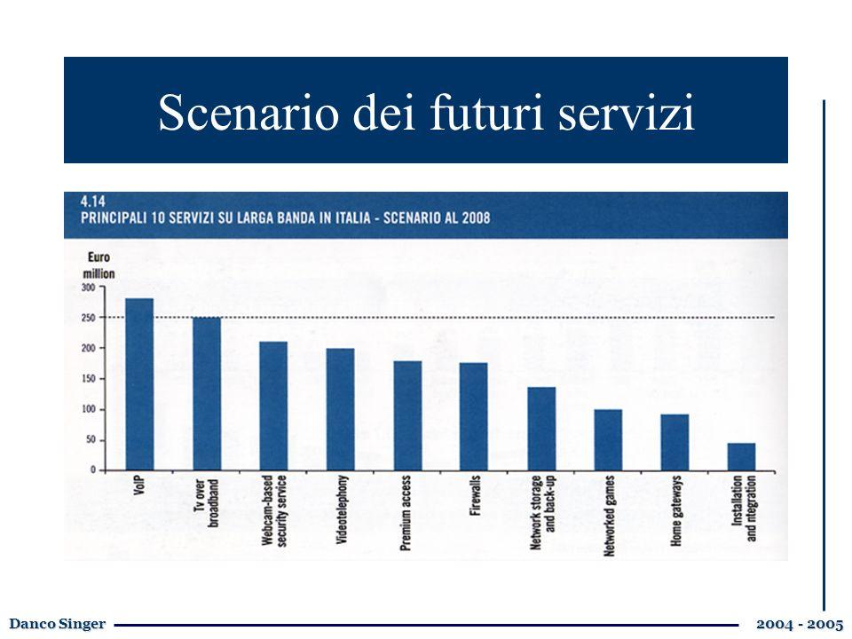 Danco Singer 2004 - 2005 Scenario dei futuri servizi