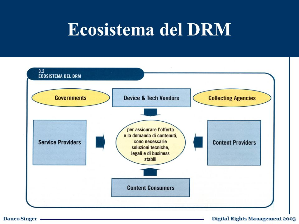 Danco Singer Digital Rights Management 2005 Ecosistema del DRM
