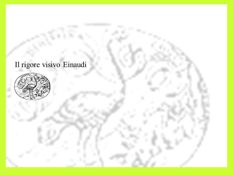 Il rigore visivo Einaudi