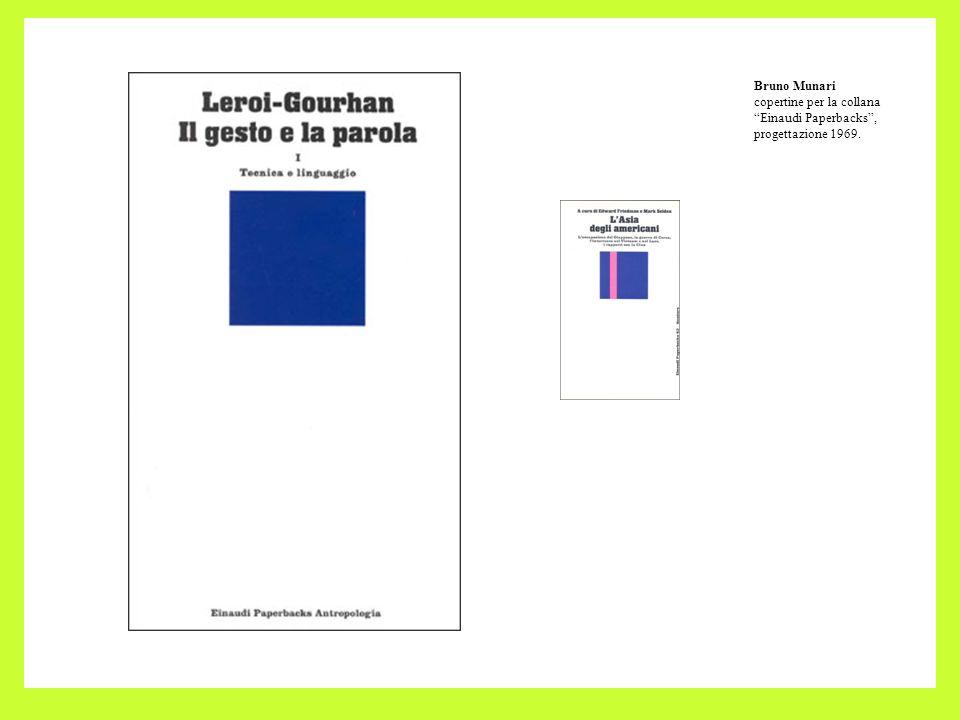 Bruno Munari copertine per la collana Einaudi Paperbacks, progettazione 1969.