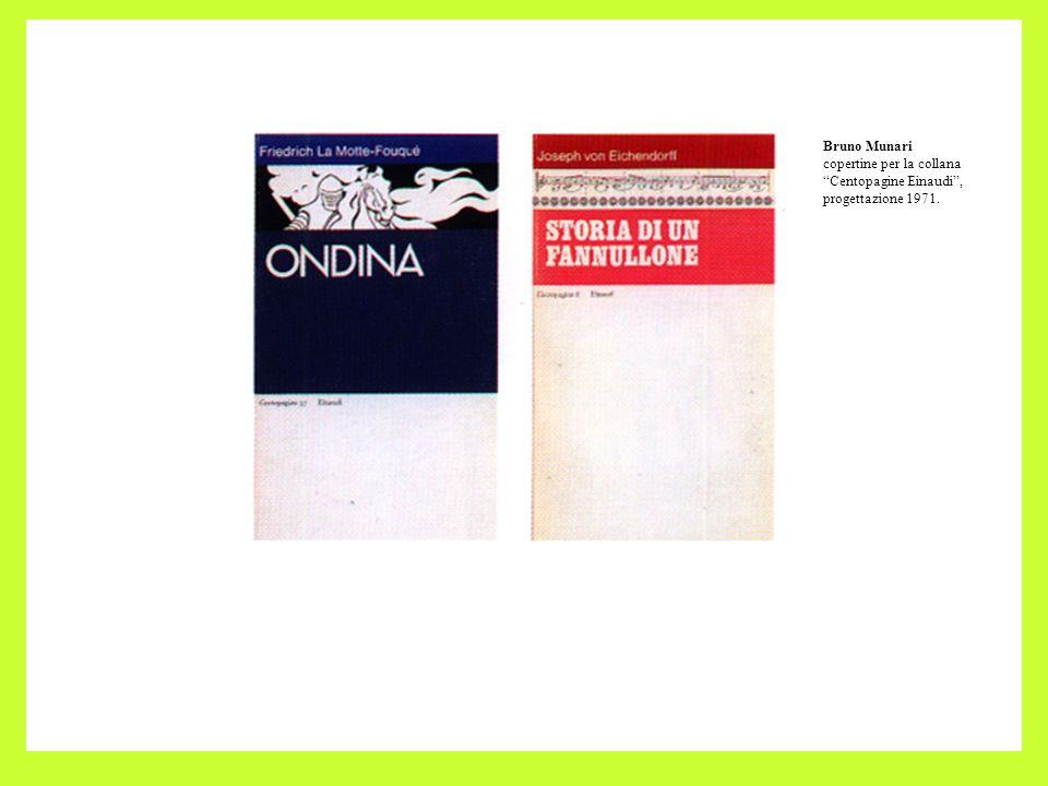 Bruno Munari copertine per la collana Centopagine Einaudi, progettazione 1971.