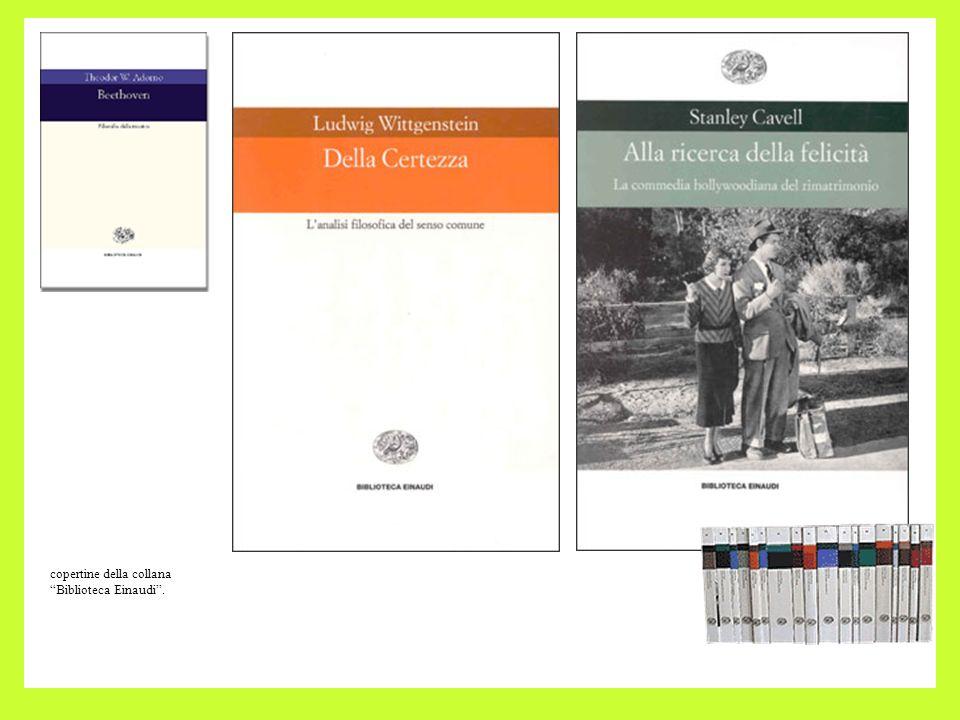 copertine della collana Biblioteca Einaudi.