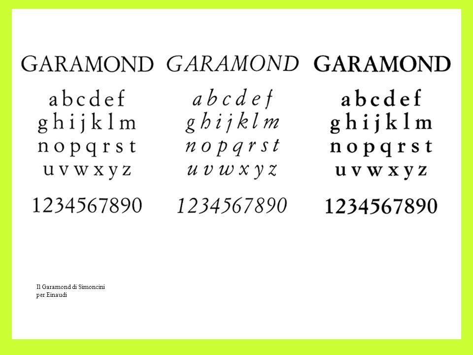 Il Garamond di Simoncini per Einaudi