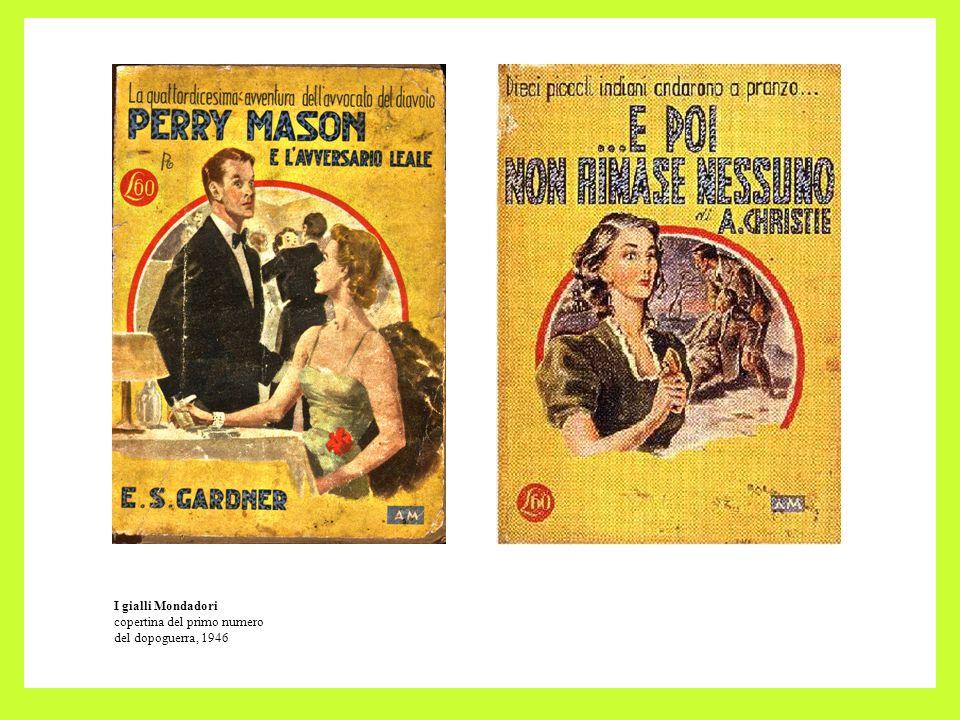 I gialli Mondadori copertina del primo numero del dopoguerra, 1946