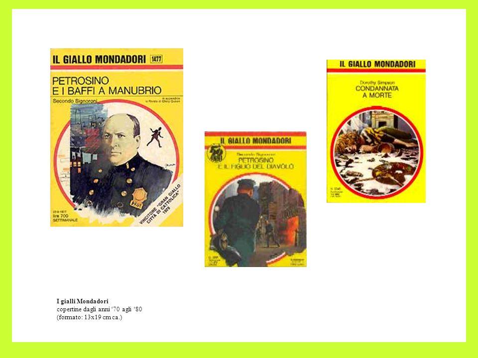 I gialli Mondadori copertine dagli anni 70 agli 80 (formato: 13x19 cm ca.)