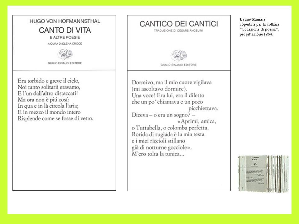 Bruno Munari copertine per la collana Collezione di poesia, progettazione 1964.