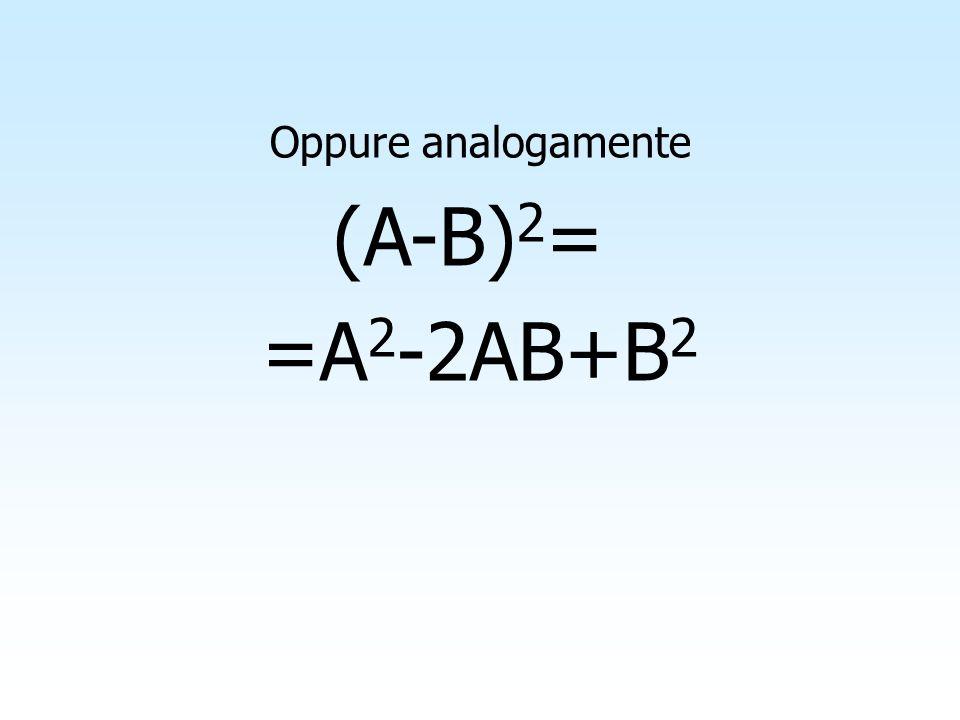 Per interpretare geometricamente la formula (A+B+C) 2 =A 2 +B 2 +C 2 +2AB+2AC+2BC Per interpretare geometricamente la formula (A+B+C) 2 =A 2 +B 2 +C 2 +2AB+2AC+2BC Supponiamo che A, B e C siano due numeri positivi e considerato un quadrato di lato l=A+B+C, la cui area misura A =(A+B+C) 2 Supponiamo che A, B e C siano due numeri positivi e considerato un quadrato di lato l=A+B+C, la cui area misura A =(A+B+C) 2 (A+B+C) 2 A + B + C A+B+C