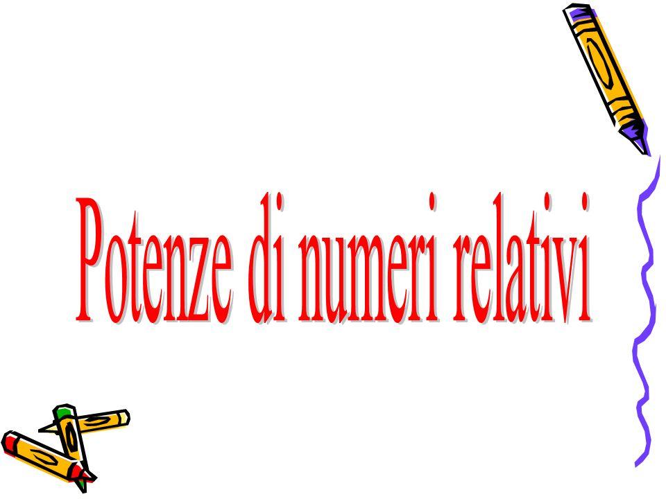 Se n è un numero intero positivo, maggiore di 1, si chiama potenza n-esima di un numero relativo a, il prodotto di n fattori uguali ad a.