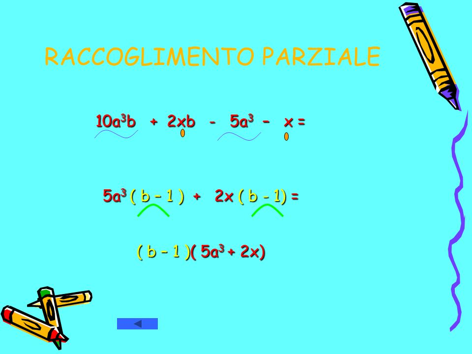 DIFFERENZA DI DUE QUADRATI ( a 2 – b 2 ) = ( a 2 – b 2 ) = ( a – b ) ( a – b ) ( a + b ) ( a + b )