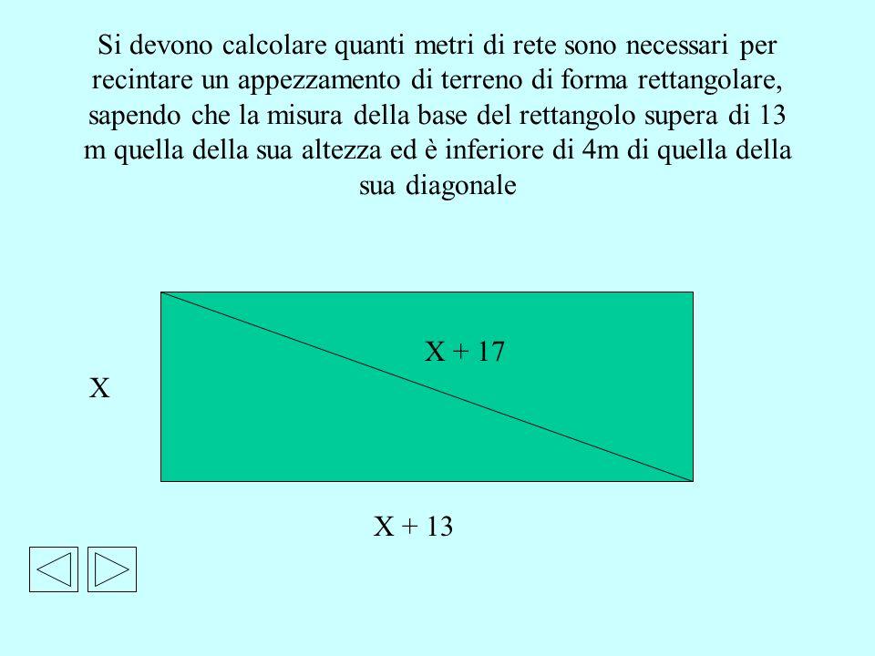 Si devono calcolare quanti metri di rete sono necessari per recintare un appezzamento di terreno di forma rettangolare, sapendo che la misura della ba