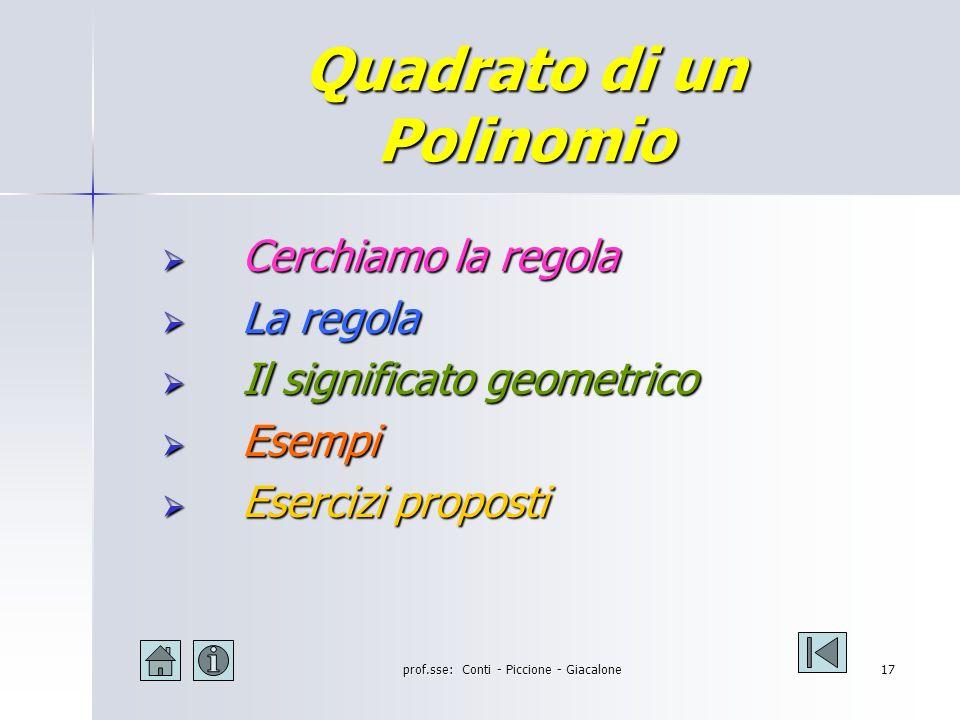 prof.sse: Conti - Piccione - Giacalone16 Cubo di binomio: esercizi