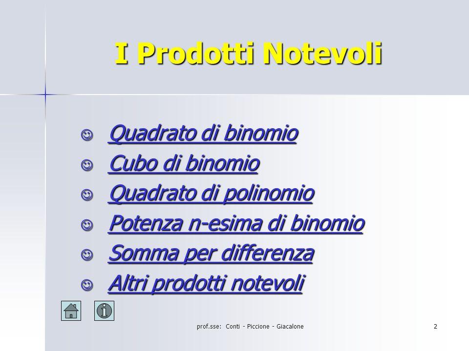 prof.sse: Conti - Piccione - Giacalone1 Istituto di Istruzione Secondaria Superiore G.G.